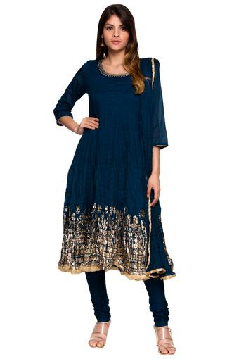 BIBA -  BlueSalwar & Churidar Suits - Main