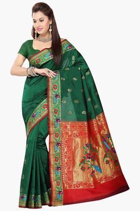 ISHINWomens Poly Silk Brocade Saree - 201628765