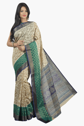 JASHN Womens Printed Saree - 201502355