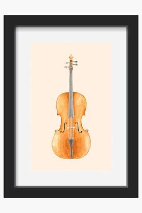 CRUDE AREA Brown Cello Printed Art Print (Large)  ...