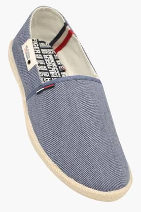Mens Canvas Slip On Loafers - 202188424