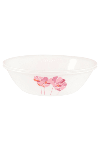 India Collection Pink Lotus 2 Pcs 1ltr Serving Bowl