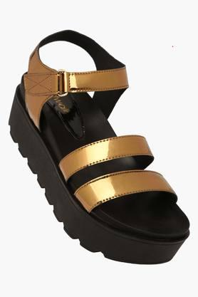 CATWALK Womens Party Wear Velcro Closure Wedge Sandals