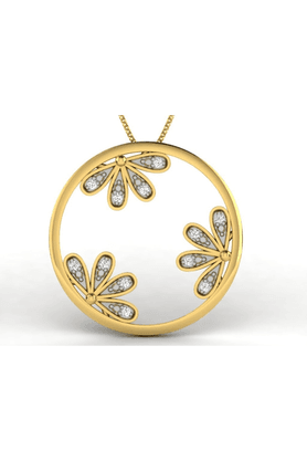 SPARKLESHis & Her Collection 18 Kt Pendant In Gold & Real Diamond HHP11408