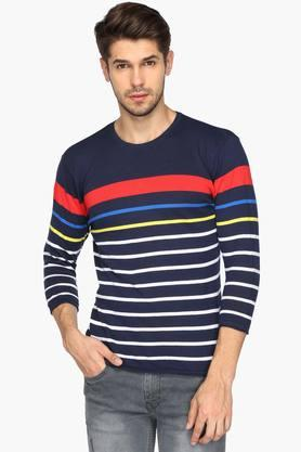 UNITED COLORS OF BENETTONMens Round Neck Stripe T-shirt - 201942026