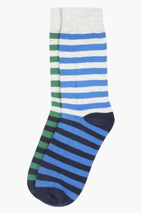 STOP Mens Striped Crew Socks - Pack Of 2 - 8933405