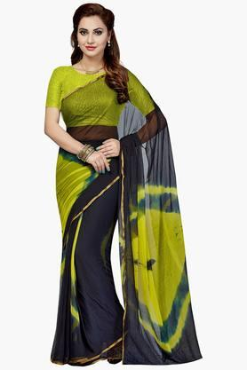 Women Faux Georgette Geometrical Printed Saree - 202447185