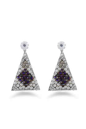 JAZZ Wedding Wear Multicolor Diamond And Pearl Earring For Women