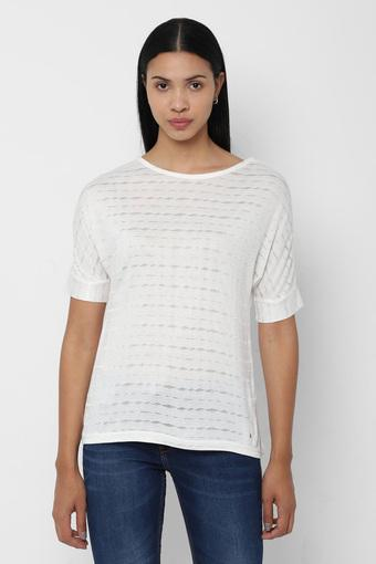 ALLEN SOLLY -  Off WhiteTops & Tees - Main