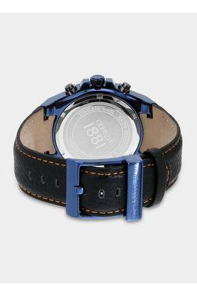 Mens Navy Blue Dial Leather Multi-Function Watch - CRA036SBLU03BK