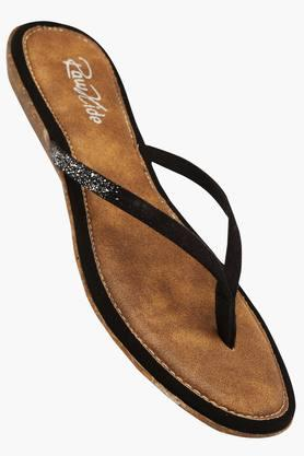 RAW HIDE Womens Daily Wear Slipon Flat Sandal