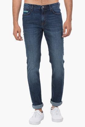 LEEMens 5 Pocket Skinny Fit Mild Wash Jeans (Bruce Fit)