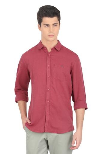 LOUIS PHILIPPE JEANS -  MaroonShirts - Main