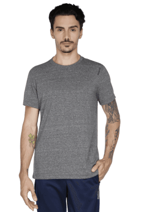 REEBOK Mens Round Neck Short Sleeve Graphic T-Shirt