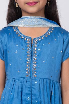 BIBA GIRLS - BlueSalwar Kurta Set - 4
