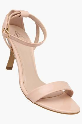 Womens Casual Ankle Buckle Closure Heel Sandal