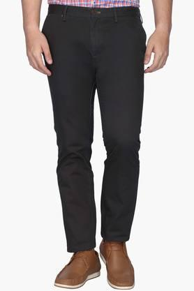 INDIAN TERRAIN Mens Slim Fit 5 Pocket Solid Chinos (Brooklyn Fit) - 202069972