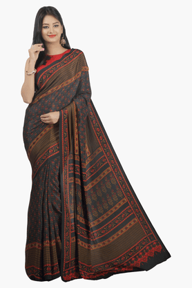 JASHN Womens Printed Saree - 201502438