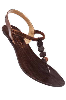 CATWALK Womens Brown Flat Sandal