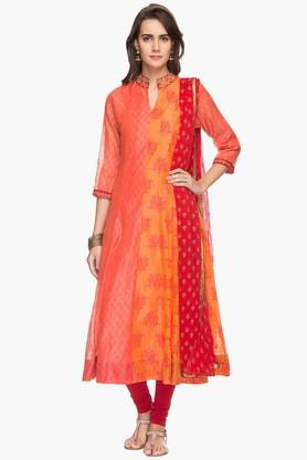 RS BY ROCKY STAR Womens Printed Churidar Kurta Dupatta Set