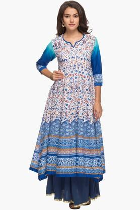 KASHISH Womens Printed Kurta Skirt Dupatta Set