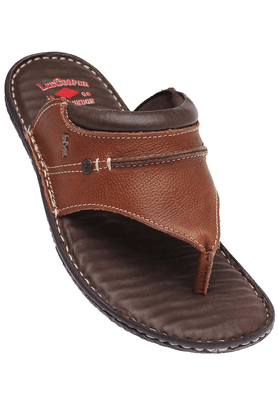 LEE COOPER Mens Brown Leather Casual Sandal