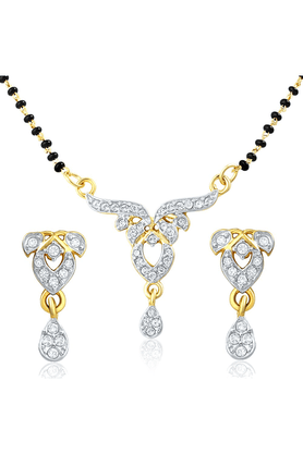 MAHI Mahi Gold Plated Pure Alliance Mangalsutra Set With CZ For Women NL1106006G