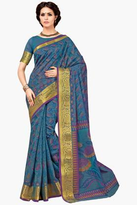 ASHIKA Womens Designer Cotton Printed Saree - 202338229