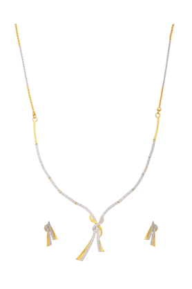 TUAN Sparkling Diamond Necklace Set For Women -INK-766