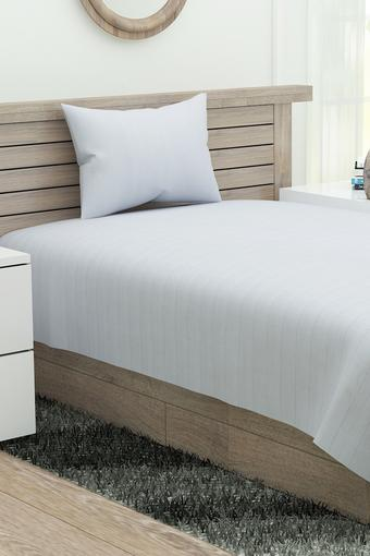 Striped Single Bed Sheet with Pillow Cover