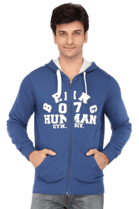BEING HUMAN Mens Full Sleeves Slim Fit Printed Sweatshirt