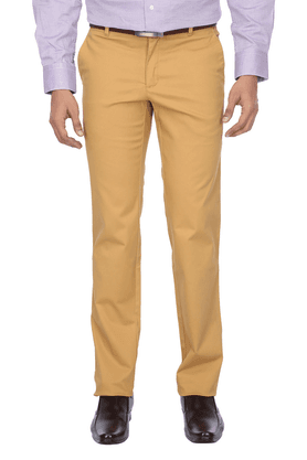 LOUIS PHILIPPE SPORTS Mens Flat Front Slim Fit Solid Chinos