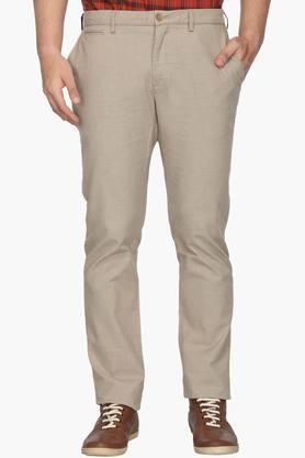 BLACKBERRYS Mens Slim Fit 5 Pocket Solid Trousers  ... - 202123907