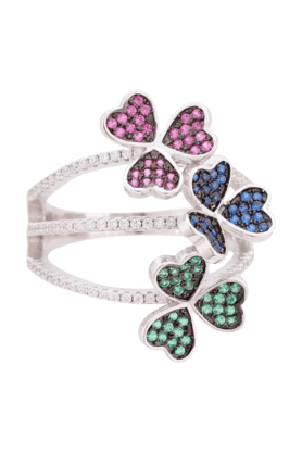 TUANWomens Multi-coloured 925 Sterling Silver Ring