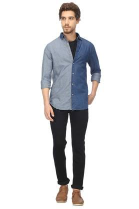 Mens Colour Block Casual Shirt