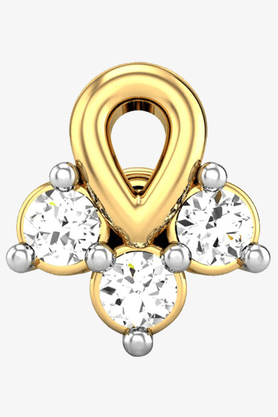 VELVETCASEWomens 18 Karat Yellow Gold Nose Ring (Free Diamond Pendant) - 201064993