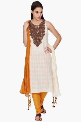Womens Embroidered Kurta & Dupatta Set