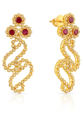 MALABAR GOLD AND DIAMONDS Womens Era Uncut Diamond Earrings