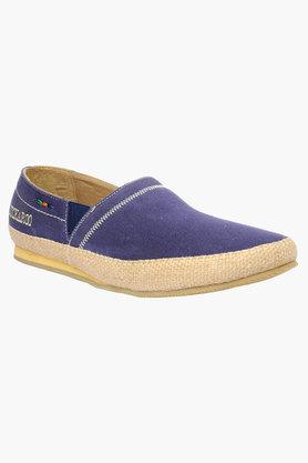 BUCKAROO Mens Canvas Slip On Loafers