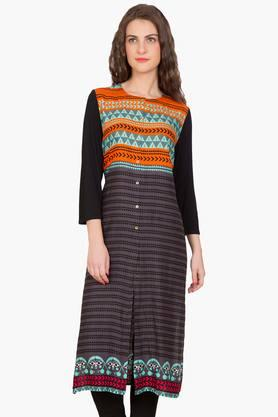 DESI BELLE Womens Printed Round Neck Kurta - 201829050