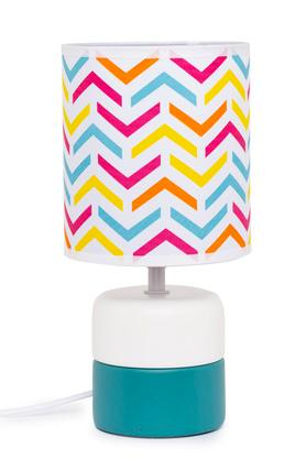 Round Aztec Stripe Lamp Shade with Ceramic Base