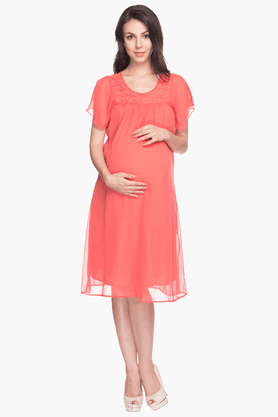 NINE MATERNITY Womens Comfort Fit Solid Dress