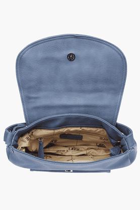Womens Snap & Zipper Closure Sling Bag