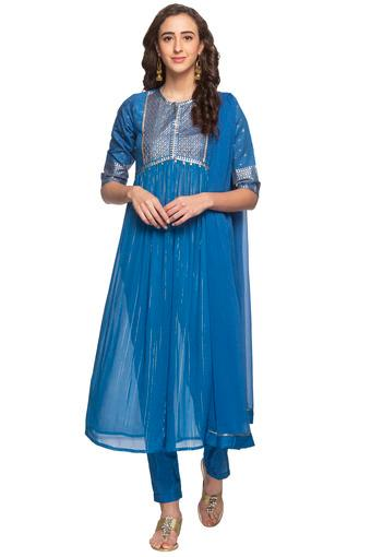 AURELIA -  Persian Blue Salwar & Churidar Suits - Main