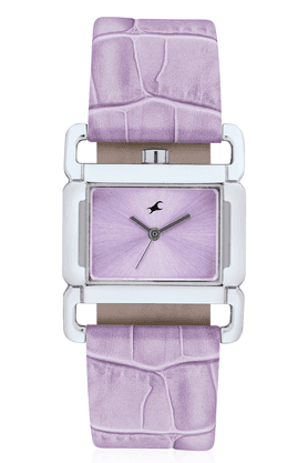 FASTRACK Ladies Watch With Purple Leather Strap - 6089SL01