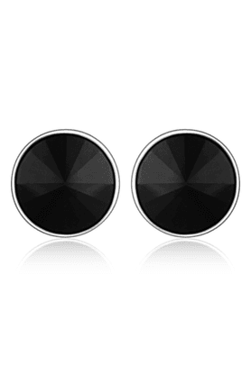 MAHIRhodium Plated Bold Black Earrings Made With Swarovski Elements For Women ER1104084RBla