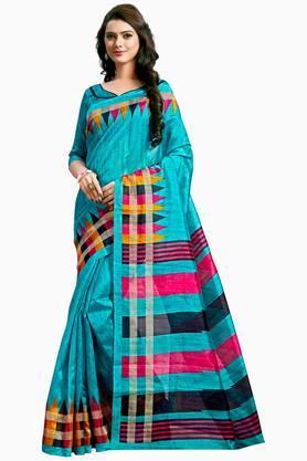 Women Bhagalpuri Silk Printed Saree