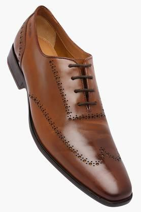 RUOSH Mens Leather Lace Up Shoes