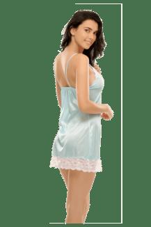 672919417132 Buy CLOVIA Sky Blue Short Nightdress