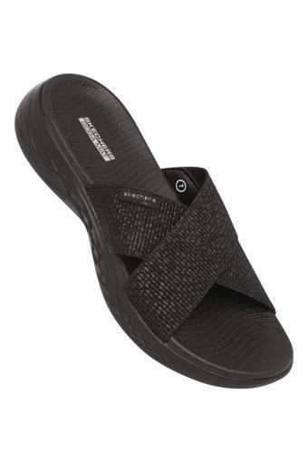 SKECHERS -  BlackFloaters & Flip Flops - Main